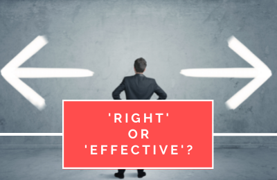 'Right' or 'Effective'?