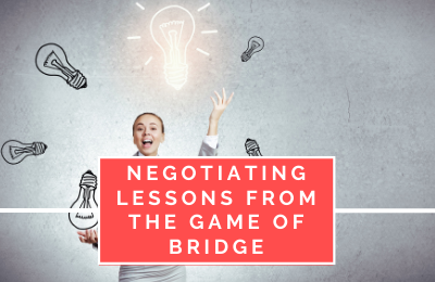Negotiating Lessons from the Game of Bridge
